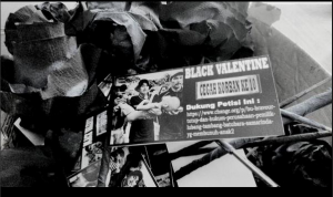 Aksi Black Valentine JATAM Kaltim