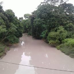 Sungai Sidi, aliran airnya ke Sungai Malinau berubah warna, tercemar