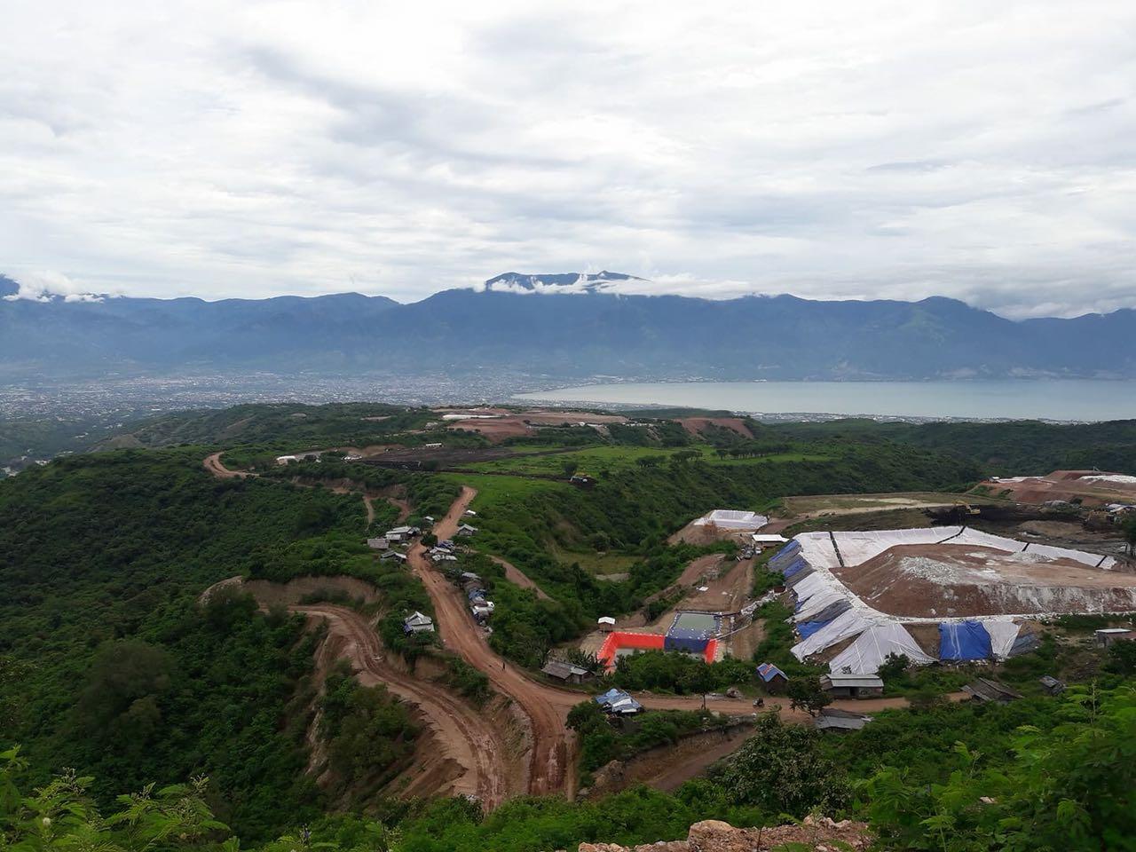 Kolam Perendaman Emas yang diduga berbahan Merkuri dan Sianida di Poboya. (Foto: JATAM Sulteng
