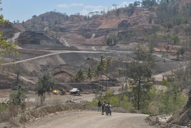 Lokasi Tambang Mangan PT Soe Makmur Resources di Supul, Timor Tengah Selatan. Izin Operasi Produksi PT SMR baru berakhir pada 2032