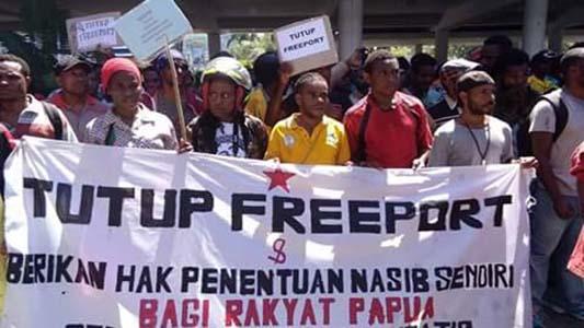 Foto: https://www.pasificpos.com/item/16175-fpm-tf-akan-kembali-demo-tuntut-freeport-ditutup