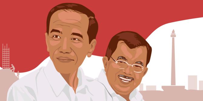 Joko Widodo - Jusuf Kalla [Ilustrasi Merdeka.com]