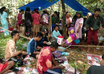 Warga Desa Roko-Roko Raya menjaga lahannya masing-masing akibat terus mendapat ancaman dari penyerobotan perusahaan tambang