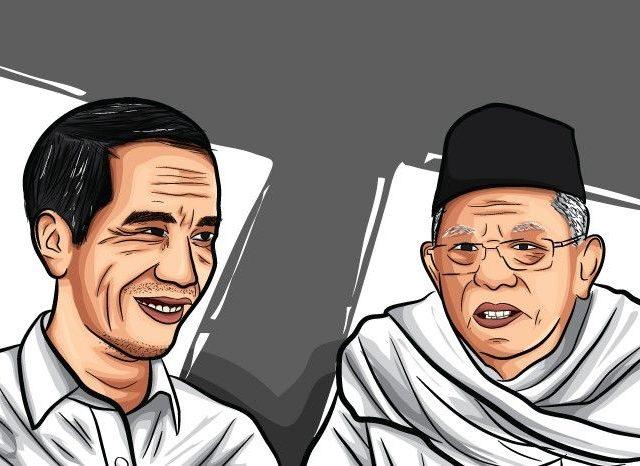 Ilustrasi: Jokowi-Maruf Amin (Koko/JawaPos.com)